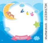 baby shower template design...   Shutterstock .eps vector #1123341734