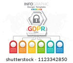general data protection... | Shutterstock .eps vector #1123342850