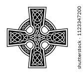 celtic cross isolated national... | Shutterstock .eps vector #1123347200