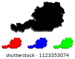 3d map of austria  republic of... | Shutterstock .eps vector #1123353074
