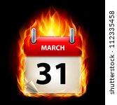 thirty first march in calendar. ...   Shutterstock .eps vector #112335458