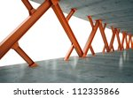 beams and concrete structure 3d ... | Shutterstock . vector #112335866