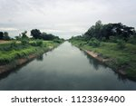 river canal in the daytime for... | Shutterstock . vector #1123369400