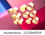 gold braille icon on the pink... | Shutterstock . vector #1123369559