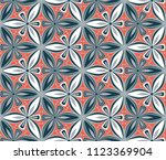 geometric flower seamless... | Shutterstock .eps vector #1123369904