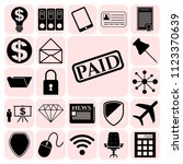 set of 22 business icons ... | Shutterstock .eps vector #1123370639