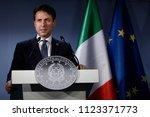 italian prime minister... | Shutterstock . vector #1123371773