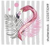 summer illustration with... | Shutterstock .eps vector #1123373249