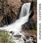 Waterfall In The Colorado Rocky ...
