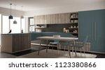 modern minimalistic wooden... | Shutterstock . vector #1123380866