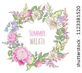 template with floral elements.... | Shutterstock .eps vector #1123381520