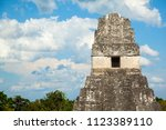 upper part of temple i  el gran ... | Shutterstock . vector #1123389110