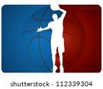 basketball background   vector... | Shutterstock .eps vector #112339304