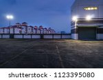 empty rooftop parking at dawn | Shutterstock . vector #1123395080