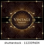 invitation vintage card | Shutterstock .eps vector #112339604