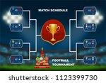last 16 soccer teams match... | Shutterstock .eps vector #1123399730
