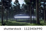3d illustration contact with... | Shutterstock . vector #1123406990