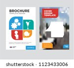 notepad brochure flyer design... | Shutterstock .eps vector #1123433006