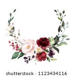 card. watercolor invitation... | Shutterstock . vector #1123434116