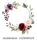 card. watercolor invitation... | Shutterstock . vector #1123434119