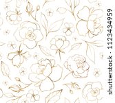 seamless pattern with gold... | Shutterstock . vector #1123434959