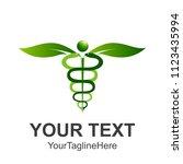 caduceus medical symbol or...   Shutterstock .eps vector #1123435994