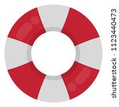 red and white ring float   red... | Shutterstock .eps vector #1123440473