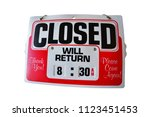 Red Sorry We're Close Closed W...