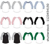 vector template for scoop neck... | Shutterstock .eps vector #1123454150