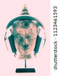 spiritual music therapy.... | Shutterstock . vector #1123461593