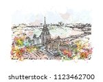 moscow capital of russia.... | Shutterstock .eps vector #1123462700