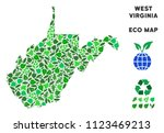 eco west virginia state map... | Shutterstock .eps vector #1123469213