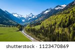 trettachspitze mountain and... | Shutterstock . vector #1123470869