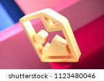 gold file image icon on the...