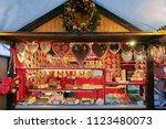 gingerbread cookies at... | Shutterstock . vector #1123480073