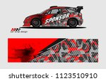 car decal graphic background...   Shutterstock .eps vector #1123510910