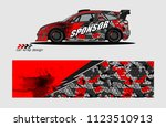 car decal graphic background...   Shutterstock .eps vector #1123510913