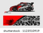 car decal graphic background... | Shutterstock .eps vector #1123510919