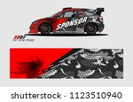 car decal graphic background...   Shutterstock .eps vector #1123510940