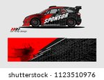 car decal graphic background...   Shutterstock .eps vector #1123510976