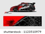 car decal graphic background... | Shutterstock .eps vector #1123510979