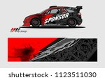 car decal graphic background...   Shutterstock .eps vector #1123511030