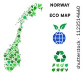 eco norway map collage of... | Shutterstock .eps vector #1123514660