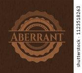 aberrant wood emblem   Shutterstock .eps vector #1123518263