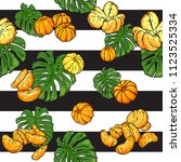 exotic repeat pattern with many ... | Shutterstock .eps vector #1123525334