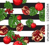 exotic repeat pattern with many ... | Shutterstock .eps vector #1123526354