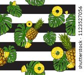 exotic repeat pattern with many ... | Shutterstock .eps vector #1123527056