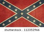 confederate rebel grunge flag... | Shutterstock . vector #112352966