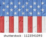 usa background on wood | Shutterstock . vector #1123541093