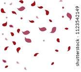 abstract flower petals confetti ... | Shutterstock .eps vector #1123542149